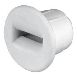 Selve Mini-Dübel-Gurtführung aus Kunststoff, bis 15 mm Gurt, weiß