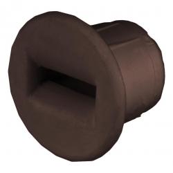 Selve Mini-Dübel-Gurtführung aus Kunststoff, bis 15 mm Gurt, braun