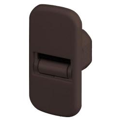 Selve Mini-Gurtführung für 20 mm Bohrung mit Leitrolle und Bürsteneinsatz, flach, bis 15 mm Gurt, braun