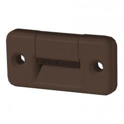 Selve Gurtführung 60 x 30 mm aus Kunststoff, quer, mit Bürsteneinsatz, bis 23 mm Gurt, braun