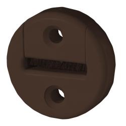 Selve Gurtführung aus Kunststoff, rund, mit Bürsteneinsatz, bis 23 mm Gurt, braun