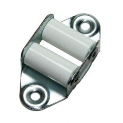 enobi Leitrolle verzinkt, Umlenkrolle, senkrechte Ausführung, bis 23 mm Gurt, weiße Rollen