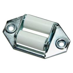 enobi Leitrolle verzinkt, Umlenkrolle, waagerecht Ausführung, bis 23 mm Gurt, weiße Rollen