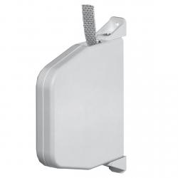 Selve Mini-Gurtwickler schwenkbar mit 5 m Gurt, 22 mm breit, bis 15 mm Gurt, weiß