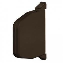 Selve Mini-Gurtwickler schwenkbar ohne Gurt, 22 mm breit, bis 15 mm Gurt, braun