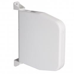 Selve Mini-Gurtwickler schwenkbar für 7 m Gurt, ohne Gurt, aufklappbar, bis 15 mm Gurt, weiß