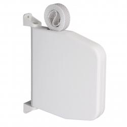 Selve Mini-Gurtwickler schwenkbar mit 7 m Gurt, aufklappbar, bis 15 mm Gurt, weiß
