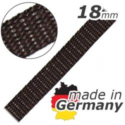 Stahl Rollladengurt 18 mm Breite ( für Fertighäuser), Meterware, braun