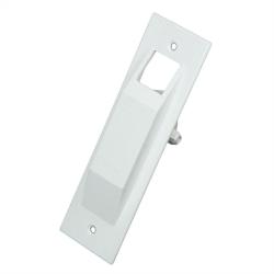 Selve Abdeckplatte für Mini-Gurtwickler aus Kunststoff, Lochabstand 118 mm, weiß