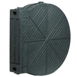 enobi Getriebe Mauerkasten aus Kunststoff für Einlass-Gurtwickler, Lochabstand 165 mm, bis 16 m Gurt