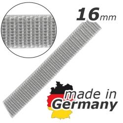 Stahl Rollladengurt 16 mm Breite (21/16), Meterware, grau