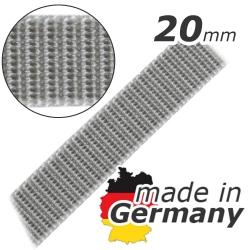 Stahl Rollladengurt 20 mm Breite (21/20), Meterware, grau