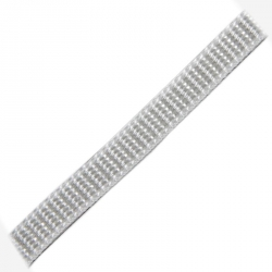 Stahl Rollladengurt 10 mm Breite (21/10), 50 Meter Rolle, silber