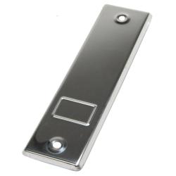 enobi Abdeckplatte PC.165.IX ohne Gurtauslassschlitz aus Edelstahl, blank, Lochabstand 161 mm, Gurt-Wicklerblende