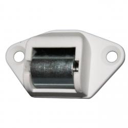 Siral Mini-Gurtführung waagerecht abgerundet, bis 15 mm Gurt, mit Bürste und Stahlrolle (Königsrolle)
