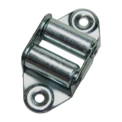 enobi Leitrolle mit Stahlrollen, Umlenkrolle, senkrechte Ausführung, bis 23 mm Gurt