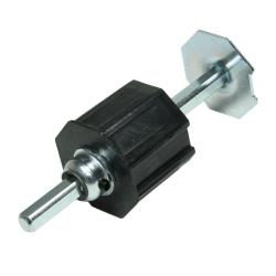 enobi Getriebeanschluss und Wellenbolzen mit 13 mm Vierkantstift für Stahlwelle SW 60
