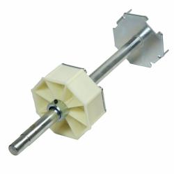 enobi Wellenbolzen mit 20 mm Achsstift für Stahlwelle SW 125