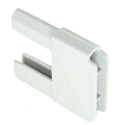 Gleiter 35 x 14 mm für PVC-Anschlagprofil, weiß (Endkappen, Plastik)