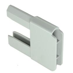 Gleiter 35 x 14 mm für PVC-Anschlagprofil, grau (Endkappen, Plastik)