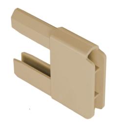 Gleiter 35 x 14 mm für PVC-Anschlagprofil, beige (Endkappen, Plastik)