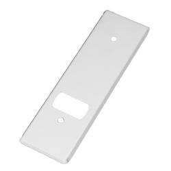 enobi Abdeckplatte PV.105.IX für Gurtwickler aus Edelstahl, weiß lackiert, Lochabstand 104 mm, Gurt-Wicklerblende
