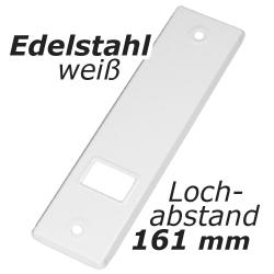 Abdeckplatte PV.165.IX für Gurtwickler aus Edelstahl, weiß lackiert, Lochabstand 161 mm, Gurt-Wicklerblende