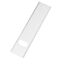enobi Abdeckplatte PV.257.IX für Gurtwickler aus Edelstahl, weiß lackiert, Lochabstand 257 mm, Gurt-Wicklerblende