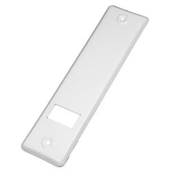 enobi Abdeckplatte PV.160.IX für Gurtwickler aus Edelstahl, weiß lackiert, Lochabstand 160 mm, Gurt-Wicklerblende