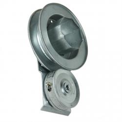 enobi Kastenwickler AC.180.SX, 200 mm Wickler mit 180 mm Gurtscheibe, links, verzinkt (für Fertighaus)