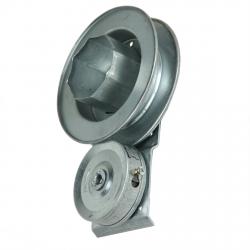 enobi Kastenwickler AC.180.DX, 200 mm Wickler mit 180 mm Gurtscheibe, rechts, verzinkt (für Fertighaus)