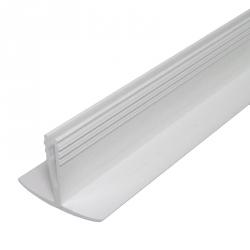 enobi Prix Deckel-Klemmprofil aus PVC für Rollladenkasten (Clipprofil, Fasel), weiß