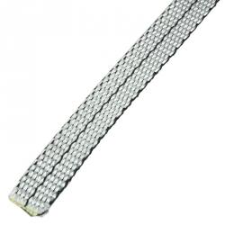 Stahl Zugband für Wintergartenmarkise (WGB / WGM) Z311, 10 mm x 0,9 mm, silber mit Kennlinie