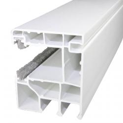 Neerken & Büter Rollladen-Führungsschiene NBF17 aus Kunststoff, 49 x 40 mm, mit Bürstendichtung, weiß