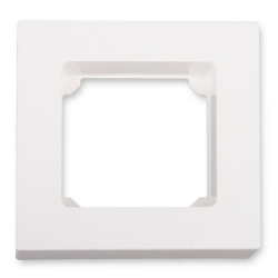 - Abdeckrahmen mit 50 x 50 mm Innenmaß, 1-Fach, weiß glänzend