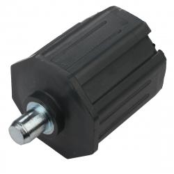 enobi Walzenkapsel mit Achsstift Ø 12 mm für Stahlwelle SW 50, ohne Kranz