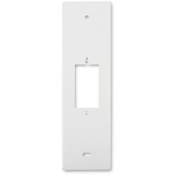 enobi Abdeckplatte 142 Blende für Wippschalter KPM und Wipptaster KPS, Lochabstand 142 mm, Aluminium weiß lackiert