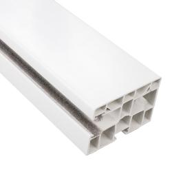 enobi Rollladen-Führungsschiene PP 60/17 aus Kunststoff, 60 x 40 mm, mit Bürstendichtung, weiß