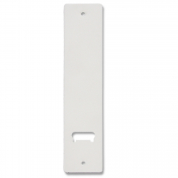 enobi Aluminiumblende weiß für Getriebe-Einlass-Gurtwickler P.260, Metall-Abdeckplatte weiß
