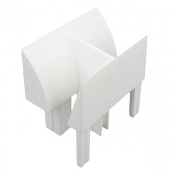 enobi Mini-Einlauftrichter für Führungsschiene PP 60/12 und PPD-P 60/12, weiß