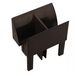 enobi Mini-Einlauftrichter für Führungsschiene PP 60/12 und PPD-P 60/12, dunkelbraun