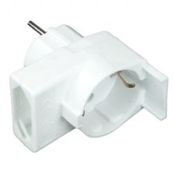 enobi Kombi-Duplex-Stecker, ohne Überspannungsschutz, reinweiß
