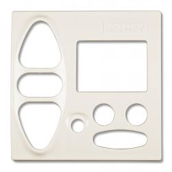 Abdeckplatte Gira Standard / S-Color / Trias / Flächenschalter, reinweiß matt | für Somfy Chronis Uno L comfort, Chronis IB L comfort