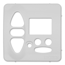 Abdeckplatte Jung CD 500 / ST 550 / CD 500 Plus, alpinweiß matt | für Somfy Chronis Uno L comfort, Chronis IB L comfort