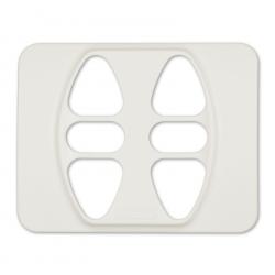 Abdeckplatte Berker S.1 / B.1 / B.7, Alu-Optik | für Somfy Inis Duo, Inis Duo VB