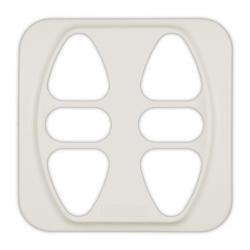Abdeckplatte Busch-Jäger Reflex SI / Duro 2000 SI, (creme) weiß matt | für Somfy Inis Duo, Inis Duo VB