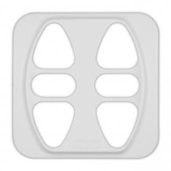 Abdeckplatte Busch-Jäger Reflex SI / Duro 2000 SI, polarweiß matt | für Somfy Inis Duo, Inis Duo VB