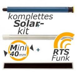 Solar-Funk-komplett-Kit Oximo 40 WireFree RTS 10/12, 10 Nm, Baureihe 40 | ab Ø 40 mm