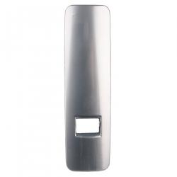 enobi Abdeckplatte für Gurtwickler Venus, Kunststoff aluminium glänzend (Blende, metallic-optik)