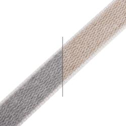 enobi Rollladengurt aus Baumwolle, 22 x 2,2 mm, Meterware, grau-beige (Wendegurt)